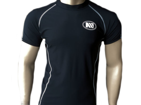Main Event Compression Base Layer Rash Guard Top Short Sleeves